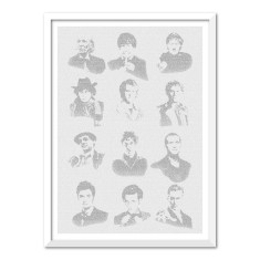 Doctor Who full set of the 12 doctors - text art print