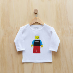 Personalised blockman long sleeve t-shirt