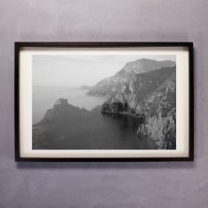 Amalfi Coast Print in Black & White
