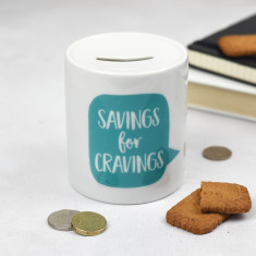 Savings for Cravings Money Box