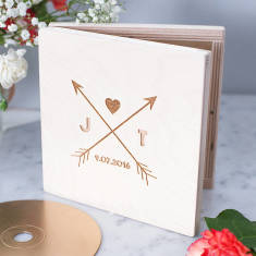 Personalised arrows CD keepsake box