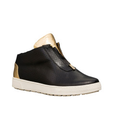Kush Leather High-Top Sneakers In Black and Gold