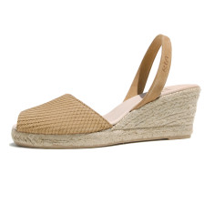 Teresa suede leather sandals in tan