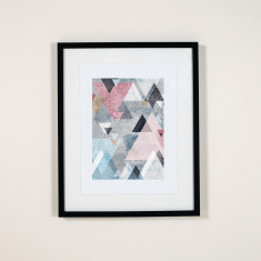 Geometric triangle wall art print