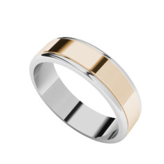 Two-tone gold men's wedding ring