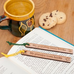 Personalised grandparents wooden bookmark