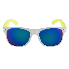 Breo Two Tone Mirror Sunglasses - Grey/ Lime