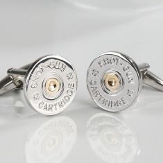 Two-tone shotgun cufflinks