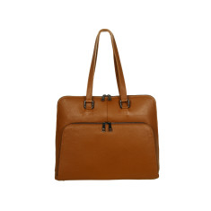 Margaret leather tote bag in tan