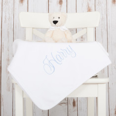 Personalised Monogram Baby Blanket