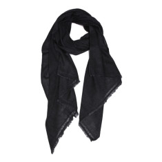 Moye cashmere stole in charcoal grey