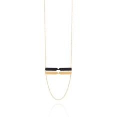 Chord Double Bar Necklace