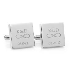 Personalised infinity couple monogram cufflinks