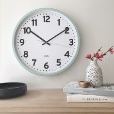 Kennett Silent Sweep Wall Clock 50cm - various colours by Toki
