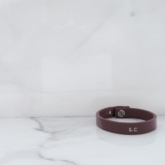 Women's Personalised Leather Wristband