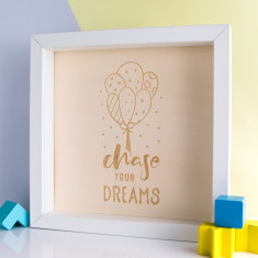 Chase Your Dreams Wood Print Box Frame