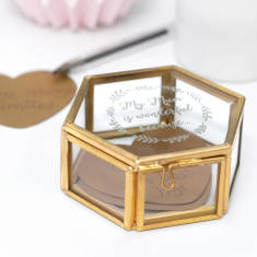 Personalised Mum Is Wonderful Mini Hexagon Jewellery Box