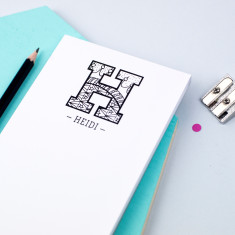 Personalised Grown Up Colouring In Initial Notepad