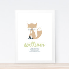 Foxy birth print