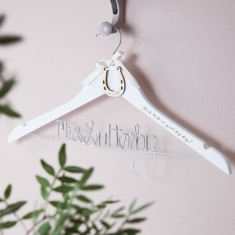 Personalised Lucky Horseshoe Wedding Hanger