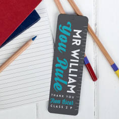 Personalised You Rule Teacher Bookmark