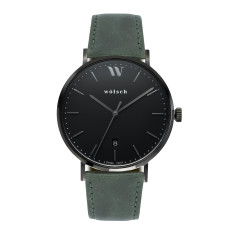 Versa 40 Watch in Black with Army Green Band