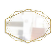 Umbra Prisma mirror in brass