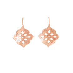 Thai princess earrings in rose gold plate