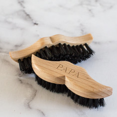 Personalised Wooden Moustache And Beard Brush