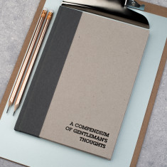 A Compendium Of Gentleman's Thoughts Hardback Notebook