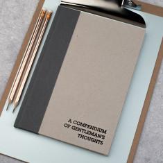 A Compendium Of Gentleman's Thoughts Hardback Notebook