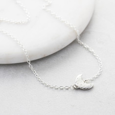 Moon & Back Silver Necklace
