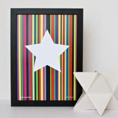 Star On Stripes Print