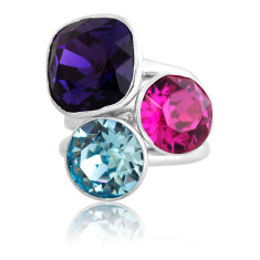 Montpelier Sterling Silver & Swarovski Elements Stacker Ring Set
