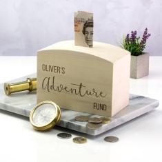 Personalised Adventure Fund Money Box