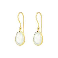 Pebble single stone drops with prehnite