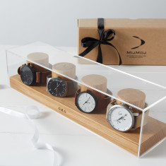Personalised Solid Oak Watch Box (3, 4 & 5 watches)