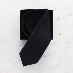 Edward Skinny tie in Oxford navy