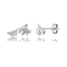 Fish Origami Stud Earrings