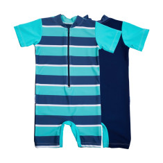Baby sunsuit for boys in Flinders Carabean