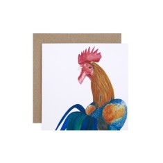 Rooster greeting card (pack of 5)
