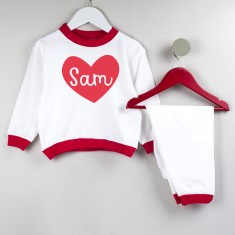 Love Heart Personalised Kids' Pyjamas