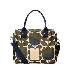 etc by Orla Kiely zip messenger giant linear stem handbag
