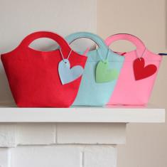 Little Lady Felt Handbag (various colours)