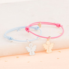 Personalised christening angel or dove bracelet