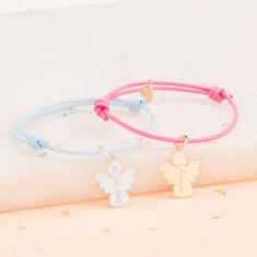 Personalised christening angel or dove bracelet