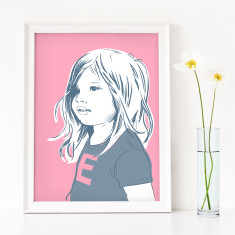 Personalised Contemporary Kid's Portrait