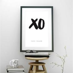 Personalised wedding XO art print