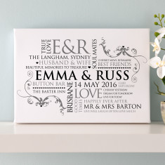Personalised Couple's Word Art