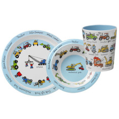 Tyrrell Katz Working Wheels melamine dinner set